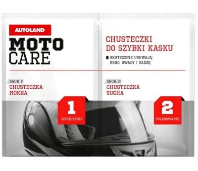Autoland Moto Care - Chusteczki do czyszczenia kasku