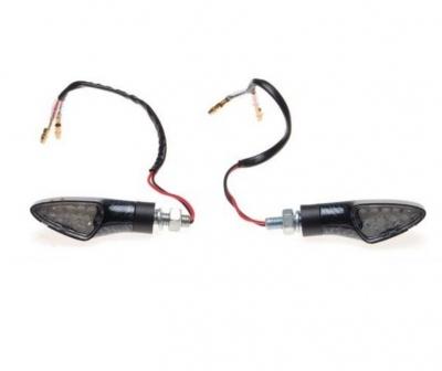 Kierunkowskazy LED carbon biały klosz