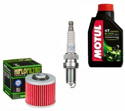 Zestaw olej, świece i filtr: Honda VT125 Shadow (1999-2009)