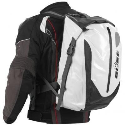 Plecak motocyklowy BUSE 30 litrów biało-czarny