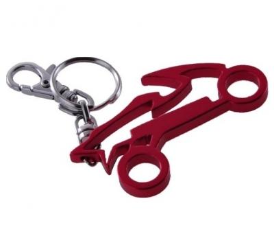 Breloczek metalowy motocykl - czerwony