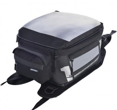 Tankbag na paski Oxford F-1 F18 - 18 litrów, kolor czarny/szary