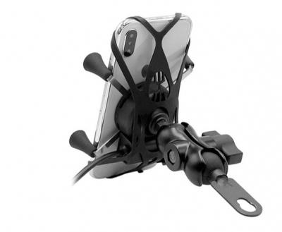 Uchwyt motocyklowy typu RAM Biketec XL z ładowaniem USB