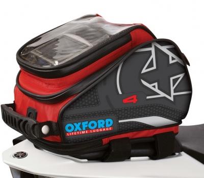 Tankbag Motocyklowy Oxford X4 OL176, 4 litry czerwony