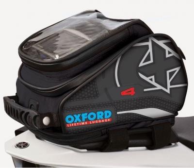 Tankbag motocyklowy Oxford X4 OL175, 4 litry czarny