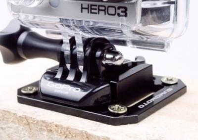 Aluminiowe mocowanie przykręcane oraz na pasek 59x47mm do Gopro HERO 4/3/2/1
