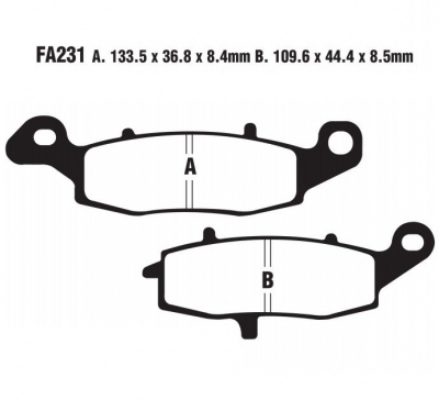 Klocki przód Suzuki GSX600F GSXF600 600 1998-2006 EBC FA231HH