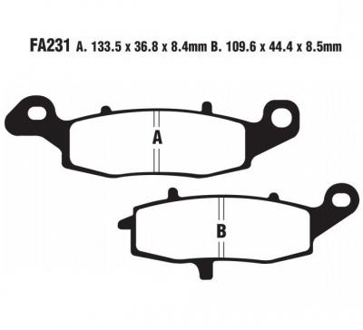 Klocki przód Suzuki SFV650 Gladius 2009-2011 EBC FA231HH
