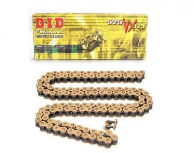 Łańcuchy DID 525VX G&B złote