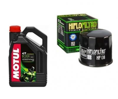 Motul 5100 4L 10W40 ESTER JASO MA2 + Filtr oleju